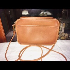 Vintage Coach Leather Cross Body Bag